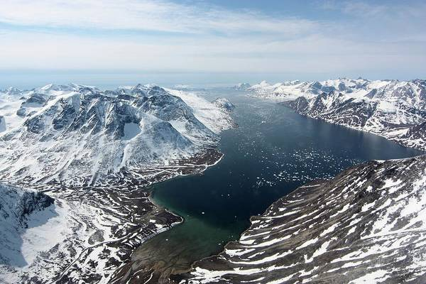 Wall Art - Photograph - Fjord In Southwest Greenland by Maria-jose Vinas, Nasa/science Photo Library