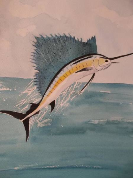 Painting - Fl Sailfish by Audrey Bunchkowski