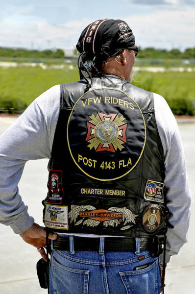 Mission Accomplished Wall Art - Photograph - Fla Post 4143 Vfw Rider Color Usa by Sally Rockefeller
