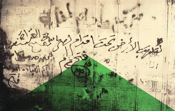Inscription Photograph - Flag I, 1992 Screenprint On Canvas by Laila Shawa