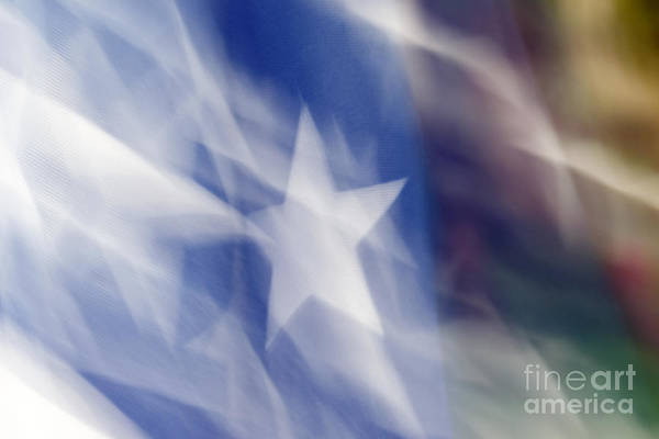 Photograph - Flag In The Wind by Gerald Grow