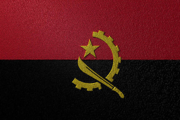 Digital Art - Flag Of Angola by Jeff Iverson