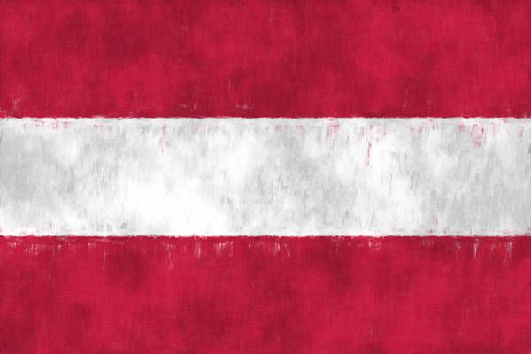 Wall Art - Digital Art - Flag Of Austria by World Art Prints And Designs
