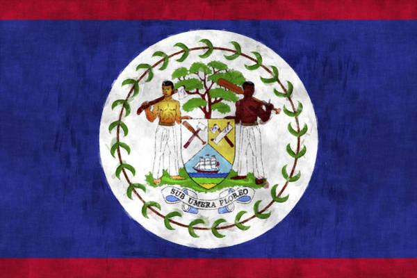 Belize Digital Art - Flag Of Belize by World Art Prints And Designs