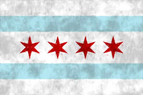 Flag Of Chicago Art Print