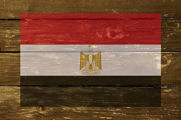 Digital Art - Egypt National Flag On Wood by Movie Poster Prints