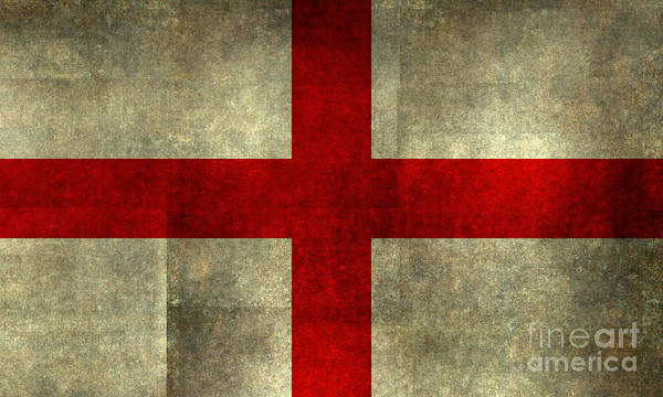 Wall Art - Digital Art - Flag Of England St Georges Cross Textured Version To Scale by Bruce Stanfield