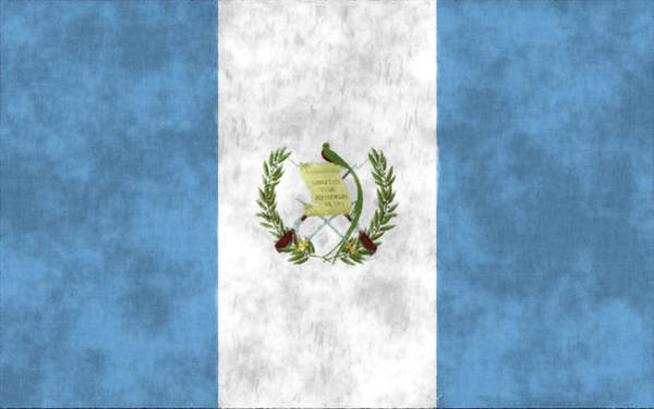 Flag Of Guatemala Digital Art - Flag Of Guatamala by World Art Prints And Designs