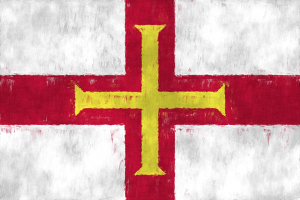 Wall Art - Digital Art - Flag Of Guernsey by World Art Prints And Designs
