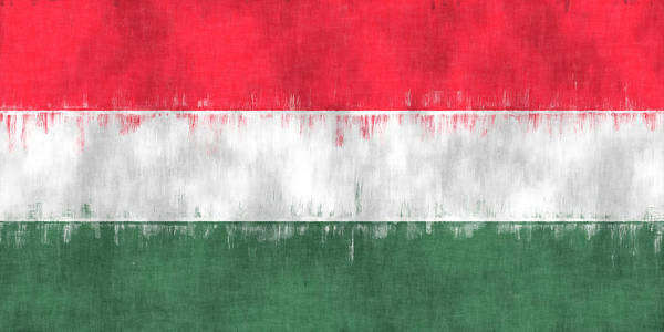 Wall Art - Digital Art - Flag Of Hungary by World Art Prints And Designs