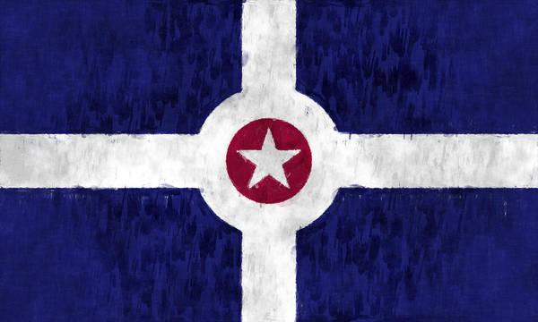 Wall Art - Digital Art - Flag Of Indianapolis by World Art Prints And Designs