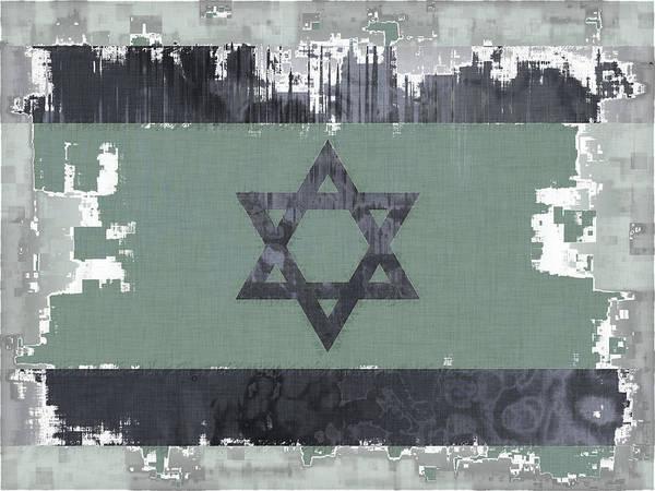 Israel Digital Art - Flag Of Israel Abstract by David G Paul