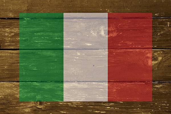 Digital Art - Italy National Flag On Wood by Movie Poster Prints