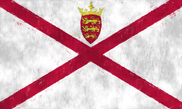 Wall Art - Digital Art - Flag Of Jersey by World Art Prints And Designs