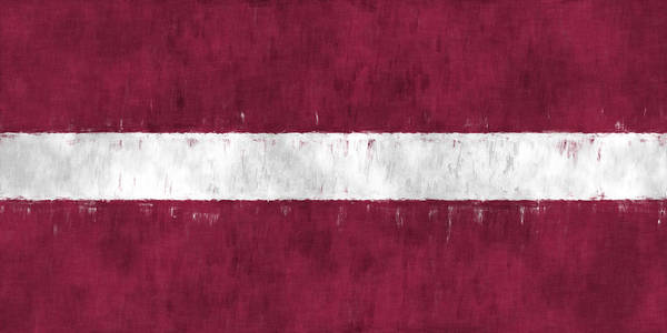 Wall Art - Digital Art - Flag Of Latvia by World Art Prints And Designs