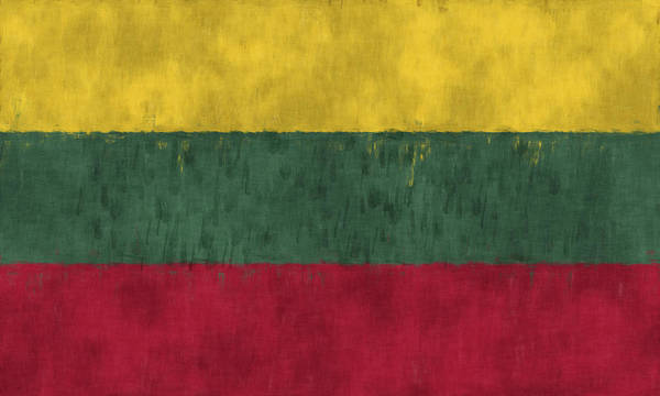 Wall Art - Digital Art - Flag Of Lithuania by World Art Prints And Designs