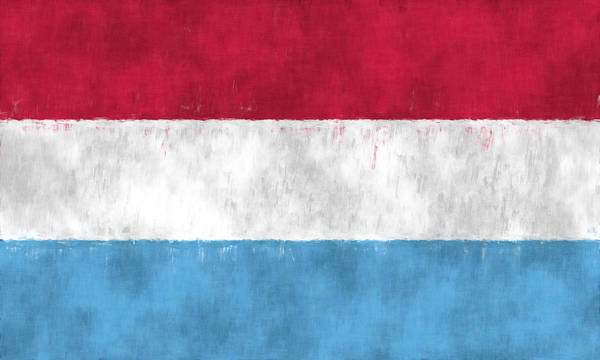 Wall Art - Digital Art - Flag Of Luxembourg by World Art Prints And Designs