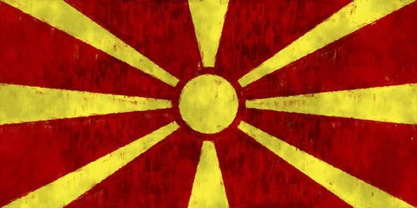 Macedonia Digital Art - Flag Of Macedonia by World Art Prints And Designs