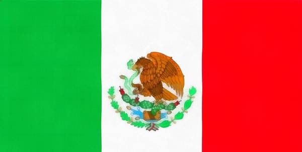 Wall Art - Painting - Flag Of Mexico by Dan Sproul