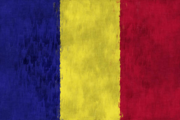 Wall Art - Digital Art - Flag Of Romania by World Art Prints And Designs