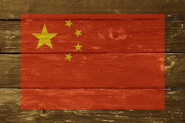 Digital Art - China National Flag On Wood by Movie Poster Prints