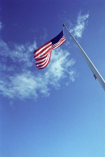 Star-spangled Banner Wall Art - Photograph - Flag Of The Usa by Bettina Salomon/science Photo Library
