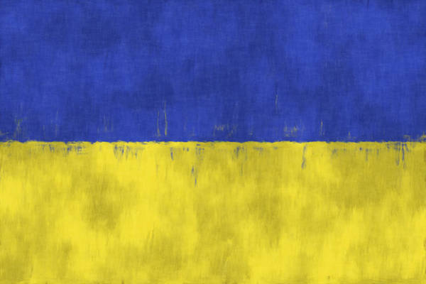 Wall Art - Digital Art - Flag Of Ukraine by World Art Prints And Designs