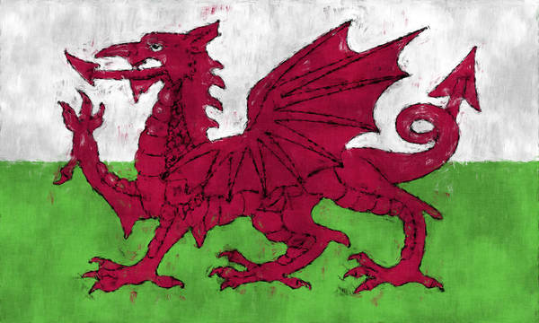 Wall Art - Digital Art - Flag Of Wales by World Art Prints And Designs