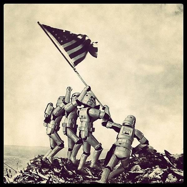 Flag Raising On Iwo Jima - Star Wars Art Print