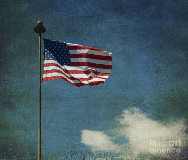 The Patriot Photograph - Flag - Still Standing Proud - Luther Fine Art by Luther Fine Art