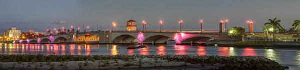 Flagler Beach Photograph - Flagler Bridge In Pink by Debra and Dave Vanderlaan