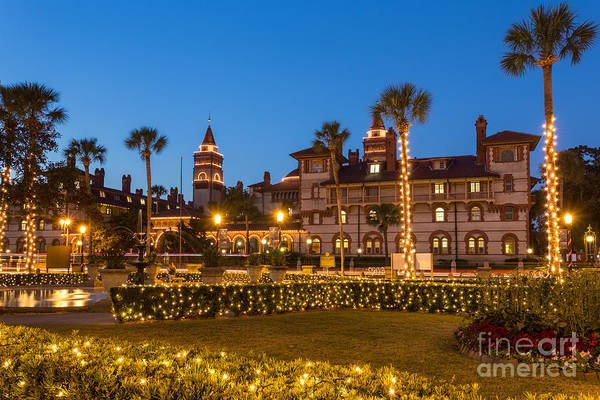 Flagler Photograph - Flagler College At Twilight St. Augustine Florida by Dawna Moore Photography