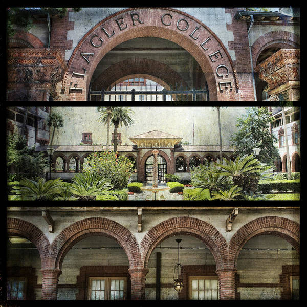 Photograph - Flagler College Triptych by Evie Carrier
