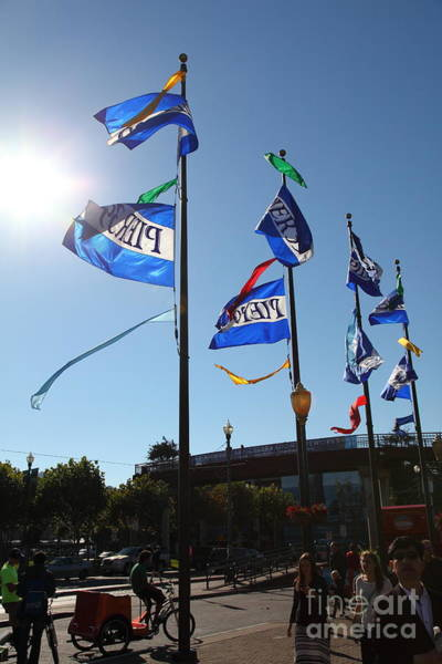 Photograph - Flags At Pier 39 San Francisco California 5d26138 by Wingsdomain Art and Photography
