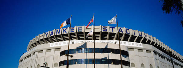 Western New York Wall Art - Photograph - Flags In Front Of A Stadium, Yankee by Panoramic Images