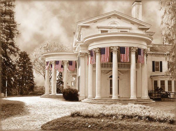 Wall Art - Photograph - Flags At Arbor Lodge by John Anderson
