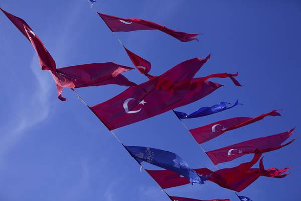 Photograph - Flags Of Turkey by Raimond Klavins