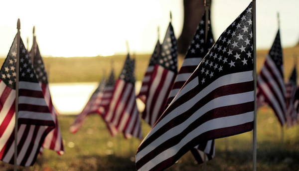 Usa Flag Photograph - Flags by Phil Roeder