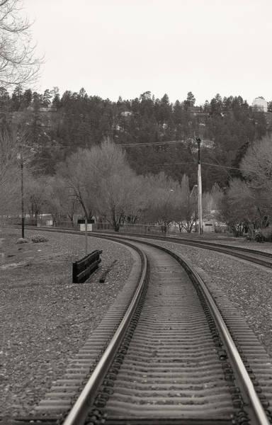 Photograph - Flagstaff Traintrack by Steven Lapkin
