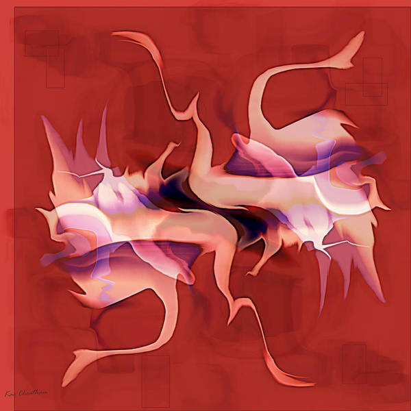 Digital Art - Flailing Abstract by Kae Cheatham