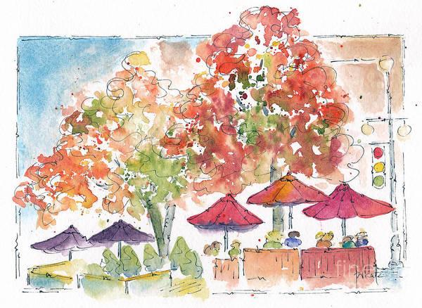 Painting - Flamboyant Fall Color by Pat Katz