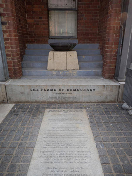 Johannesburg Wall Art - Photograph - Flame Of Democracy, Constitution Hill by Panoramic Images