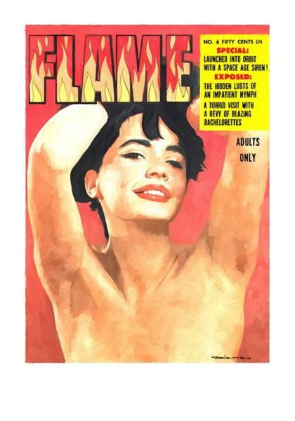Digital Art - Flame - Vintage Magazines Covers Series by Gabriel T Toro