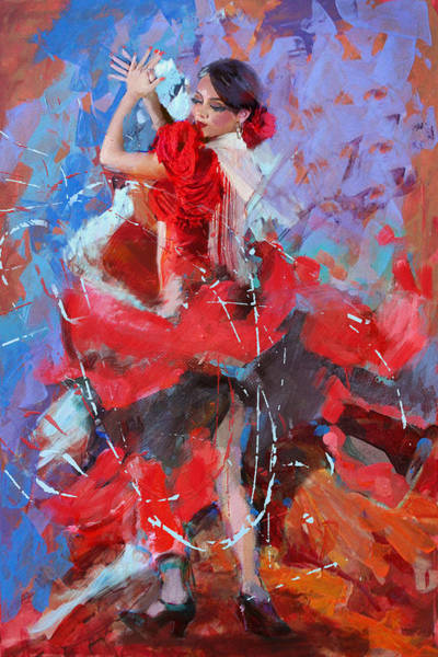 Tango Painting - Flamenco 48 by Maryam Mughal