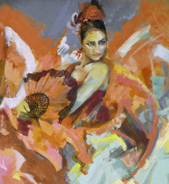 Tango Painting - Flamenco 51 by Maryam Mughal