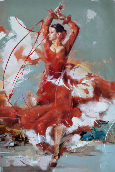 Posture Painting - Flamenco 55 by Maryam Mughal