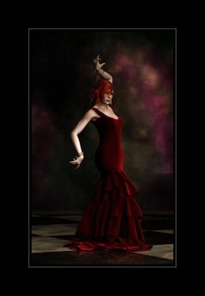 Wall Art - Digital Art - Flamenco Dancer Frame by Shanina Conway