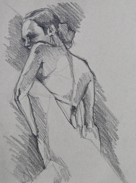 Drawing - Flamenco Dancer Sketch by Jani Freimann