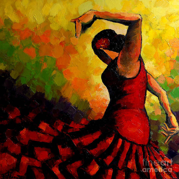 Wall Art - Painting - Flamenco by Mona Edulesco