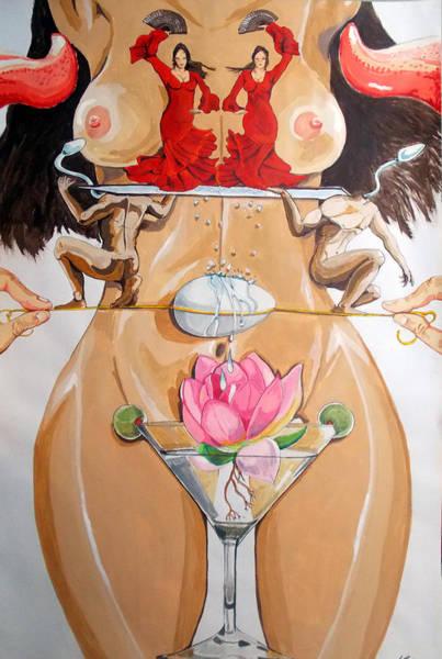 Wall Art - Painting - Flamenco Of Fertility  by Lazaro Hurtado